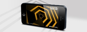 Super Hexagon on an iPhone