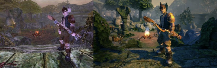 Comparison of original Fable (left) and Fable Anniversary (right)