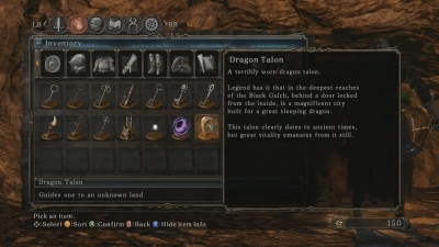 The Dragon Talon item in inventory.